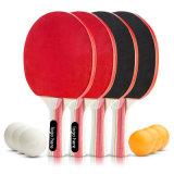 Tenis de mesa Ping Pong - cuatro palas y 6 bolas