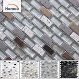 Boa Decoração Moderna China Tira de aço inoxidável Cor de mistura mistura vidro mosaico de pedra