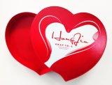 Casella su ordinazione di figura del cuore del contenitore di regalo del documento di natale per l'imballaggio di /Candy/Food del regalo