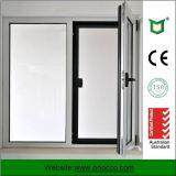 Het Openslaand raam van het aluminium met Aangemaakt die Glas in China wordt gemaakt