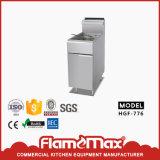 Friteuse profonde de la cuisine 1 de réservoirs de gaz commercial d'acier inoxydable