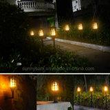 À prova de água automático ligado/desligado 96 LEDs piscando Jardim Solar chama a lâmpada de iluminação