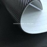 banda transportadora de la rueda de ardilla del PVC del diamante negro de 2m m para el distribuidor