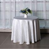 Mantel blanco del hotel del algodón barato redondo