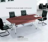 Стол офиса таблицы конференции с Chromed ногами нержавеющей стали