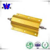 Résistances en aluminium d'or de Wiremound du cas Rx24