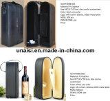 [بو] جلد يحمل شركة نقل جويّ حالة حقيبة لأنّ خمر [شمبن] زجاجة