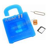 R-SIM 11+ Rsim nano abren la tarjeta para el SE del iPhone 7/6/6s/5s/5c más 4G Lte Ios10. X