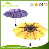 자동 충분히 인쇄를 가진 3개의 겹 우산을 여십시오