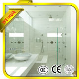 4mm-19mm clair de haute qualité/Salle de douche en verre trempé teinté porte