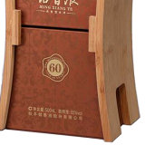 جديدة تصميم صلبة خشبيّة [بو] جلد يعبّئ خمر صندوق