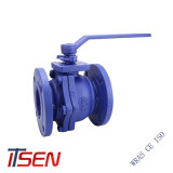 Norma DIN/ANSI Cast/Ferro Dúctil a extremidade do flange da válvula esférica com reduzido/furo completo de PN10/16/25 Class150/300/600