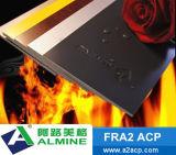 PVDF revêtement extérieur A2 aluminium panneau composite en plastique avec une haute qualité