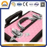 Cassa dentellare del carrello di bellezza di trucco di modo con i cassetti ed i divisori (HB-6413)