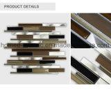 Tegel van het Mozaïek van het Aluminium van de Strook van de badkamers de Glas Gemengde voor Keuken Backsplash
