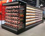 Supermercado Vitrina refrigerada vertical para el diario/queso