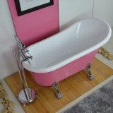 Clawfoot acrílico bañera de patas en color rosa (BG-7006D)