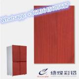 Metal de hoja revestida del PVC del color de los precios de fábrica para los paneles de la puerta de Refigerator