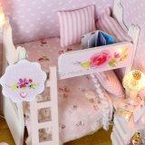 Het houten Huis van Doll met MiniatuurBank en Gift DIY voor Jonge geitjes