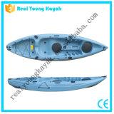 Kajak de la pesca del océano de la canoa plástica del relais solo con el asiento y la paleta (M02)
