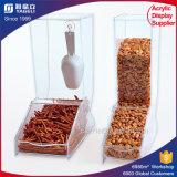Distributeur acrylique de sucrerie de type fait sur commande clair