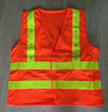Migliore maglia riflettente arancione infiammante di vendita del LED