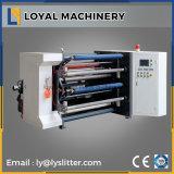 Riesiges gummiert Papierrollenaufschlitzende Hochgeschwindigkeitsmaschine für Kennsatz