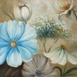 Nett Handcrafts Blumenfarbanstrich - Segeltuch-Wand-Kunst