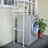 Bianco di alta qualità 2 strati del metallo della stanza da bagno della lavatrice di memoria della mensola perforata della cremagliera