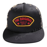 Promotional Snapback Flat Brim Custom Summer Trucker Cape Hat