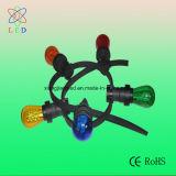 Bulbos coloreados S14 de la cadena del LED, decoraciones que se encienden, lámparas de la cadena del patio del LED S14 E27 de la cadena de la boda del LED S14