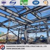 Edifício pesado da construção de aço com multi andar