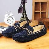 Chaussures occasionnelles de mode de chaussures de bateau d'oisif d'hommes de cuir de suède de marine