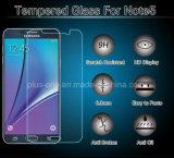 protector de la pantalla del vidrio Tempered de Japón de la alta calidad 2.5D con 9h a prueba de explosiones para la galaxia Note5 de Samsung