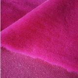 Coupure de polyester et fourrure fausse artificielle de velours de boucle