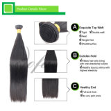 Cheveux humains de Vierge d'armure brésilienne droite de bonne qualité de cheveu