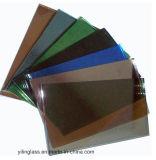 緩和された青緑の青銅色の灰色の染められたガラス