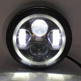 Fascio massimo minimo ambrato dell'occhio DRL di angelo fari rotondi di guidacarta LED di 7 pollici per il Wrangler della jeep
