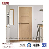 Porta de madeira da porta americana do estilo do abanador do projeto da porta de painel da madeira contínua