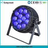 Zoom al aire libre 12x15W RGBW 4en1 PAR LED luces DJ puede