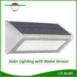 En el exterior de aluminio resistente al agua Lámpara Solar 180 Ángulo con iluminación Embergency