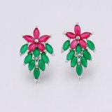 Blumen-Form reizender CZ-Schmucksache-Charme-Ohrring für Mädchen
