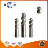 3 flautas Nariz de esferas sólidas Moinho final de carboneto de tungsténio