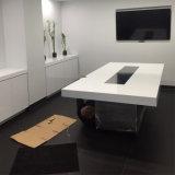 미국 호화스러운 디자인 백색 Corian 가구 사무실 회의 중역 회의실 회의장 세트