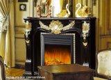 Cheminée européenne Mante de marbre de jaune de type de vente chaude
