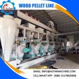 Pelota Waste da biomassa da agricultura que faz a linha