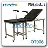 Edelstahl-manuelles Krankenhaus-gynäkologisches Geschäfts-Entbindung-Anlieferungs-Bett