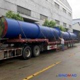 autoclave concreta ventilada paragrafada 2.68m dos tijolos com aquecimento de vapor