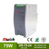 bloc d'alimentation de commutation de longeron de 75W 24VDC3.2A DIN avec du ce RoHS