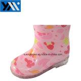 Зал для занятий фитнесом девочек детей розового цвета ПВХ дождя ботинки